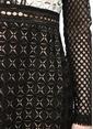 Self Portrait Fırfır Detaylı Fileli Mini Elbise Siyah